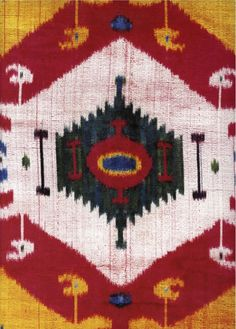 Ikat in primary colors