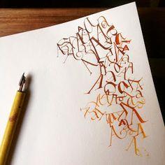 Esther Gordo Caligrafía Calligraphy: Aes. Inspiración de YukimiAnnand.