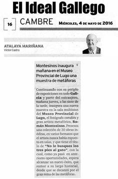 PRENSA: Hoy en El Ideal Gallego. Exposición en Lugo.
