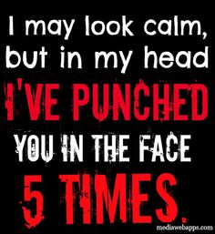 Misophonia / I may look calm, but in my head I've punched you in the face 5 times.