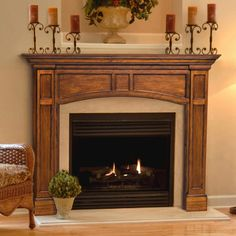 wood fireplace surround mantels | Agee Woodworks Victorian Wood Fireplace Mantel Surround Oak Fireplace ...