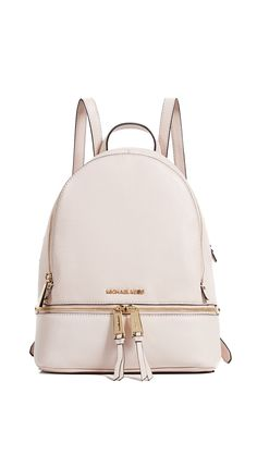 MICHAEL MICHAEL KORS RHEA ZIP MEDIUM BACKPACK. #michaelmichaelkors #bags #leather #backpacks #
