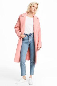 Manteau en laine mélangée - Rose clair - FEMME | H&M FR 1