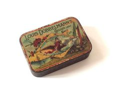 Louis DOBBELMANN'S tobacco pocket tin. 1900. by 7RueStAntoine