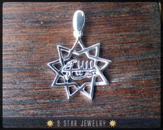 BPS15  925 Sterling Silver 9 Star Baha'i Pendant by 9 Star Jewelry