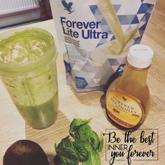 Avocado, spinach and honey ultra shake for that instant and long lasting energy burst.