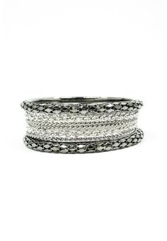 MIXED METAL CHAIN BANGLE SET