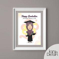 graduate vector by klinik desain ku Vector Design, Graduation, Doodles, Photo And Video, Frame, Illustration, Instagram, Picture Frame, Illustrations