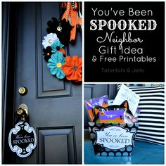 You've Been SPOOKED - FREE Halloween gift idea printables. Fill up a basket with spooky goodies, print out the tags and deliver it to YOUR neighbors!