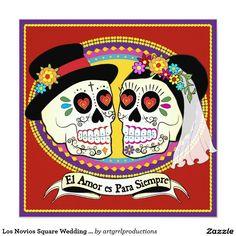 177 best SUGAR SKULL WEDDING Invitations images on Pinterest   Sugar ...