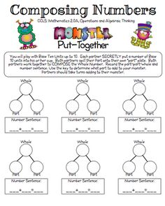The Teacher's Chair: Composing and Decomposing Numbers