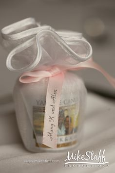 Yankee Candle Wedding Day favors Love this idea but have them