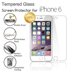 9H Hardness Tempered Glass Screen Protector For iPhone 4 4S 5 5S 6 6S 7 7 Plus Protective Film 0.33mm Ultra Thin 2.5D Round Edge