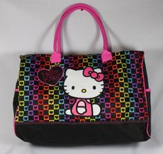 bdcf44ae661d Hello Kitty Duffel Bag Checkered Style