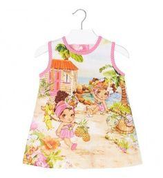 Dievčenské šaty Mayoral Beach - Bubblegum