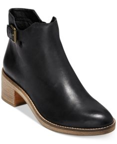 Add just the right amount of lift to any look in the trend-right block heel and buckled strap detailing on Cole Haan's Harrington booties. Women's Socks & Hosiery, Leather Booties, Leather Sandals, Cole Haan Shoes, Boys Shoes, Block Heels, Chelsea Boots, Bag Accessories, Leggings Are Not Pants