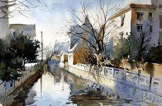 Fei Xiqiang #watercolor jd