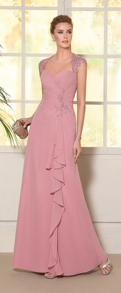 Chic Tulle & Chiffon Sweetheart Neckline A-line Mother Of The Bride Dresses With Beaded Lace Appliques