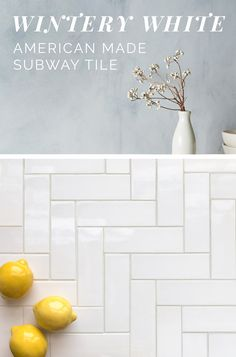 Wintery White: Swoon over our selection of White Glazes for the classic look of Subway Tile with a unique and artisan quality! Discover if you like matte or glossy, pure white or off white, high variation or consistent. Made in USA by Mercury Mosaics. Kitchen Reno, New Kitchen, Kitchen Dining, Kitchen Remodel, Decoration Inspiration, Bathroom Inspiration, Pinterest Bathroom Ideas, Mid Century Dining, Upstairs Bathrooms