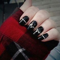 Diy ,black nails ***** pretty -  black nails,  pulse -  #winter