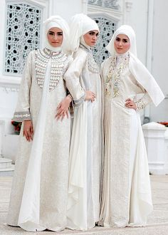 Latest Exclusive Islamic Bridal Dresses With HijabAbaya For Brides 2013 (3)