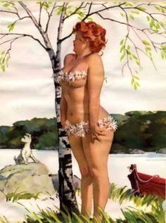 Hilda is a master piece of Duane Bryers, one of the best commercial illustrators of the 50′s and 60′s years. She was converted in a pin-up fetish by maazato.diaz