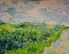 Vincent van Gogh, Green Wheat Fields, Auvers, I'd love a print of this; this is a Van Gogh I've yet to see. Art Van, Van Gogh Art, Vincent Van Gogh, National Gallery Of Art, Claude Monet, Rembrandt, Van Gogh Pinturas, Kunst Poster, Van Gogh Paintings