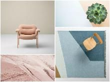 Blush Pink Design A Space, Tool Design, Latest Design Trends, Overhead Lighting, Small Furniture, Hanging Pictures, Mood Boards, Blush Pink, Paint Colors