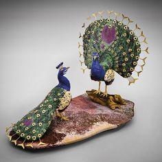 Royal Peacocks - Ruby on zoisite, Lapis Lazuli, Zebradorite & Ocean Jasper…