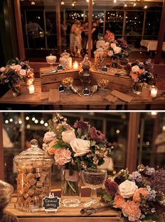 Candlelit lolly buffet for rustic wedding reception | LoveHer Photography | See more: http://theweddingplaybook.com/chic-rustic-wedding-on-the-foreshore/