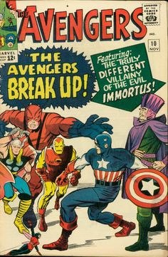 The Avengers, comic book cover