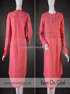 Latest Casual Dresses spring Collection 2013 For Girls By Daaman by Pakistan Fashion Magazine Spring Dresses Casual, Stylish Dresses, Dresses For Work, Dress Casual, Pakistani Dress Design, Pakistani Dresses, Long Kurtis, Asian Fashion, Fashion Tips