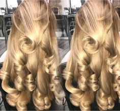 Hairstyle Look, Curled Hairstyles, Summer Hairstyles, Cool Hairstyles, Curls For Long Hair, Curly Hair, Hair Inspo, Hair Inspiration, Beauty Stuff
