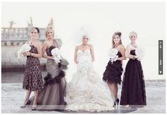 Awesome! - Monochrome Bridesmaids ~ Wedding Ideas ~ Before The Big Day   CHECK OUT MORE GREAT BLACK AND WHITE WEDDING IDEAS AT WEDDINGPINS.NET   #weddings #wedding #blackandwhitewedding #blackandwhiteweddingphotos #events #forweddings #iloveweddings #blackandwhite #romance #vintage #blackwedding #planners #whitewedding #ceremonyphotos #weddingphotos #weddingpictures