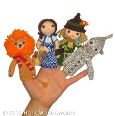 The Wizard of Oz Finger PUPPETS PDF Emal Knit PATTERN, via Etsy.