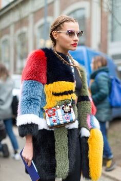 From bold fur, sweatsuits to bomber jackets, see all of the eye catching trends straight from street here: