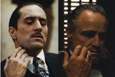 Robert DeNiro, Marlon Brando, Godfather II, I (The Godfather in Chronological order...*III doesn't count)