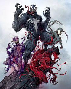 Venom and the Symbiote Venom Comics, Marvel Venom, Marvel Villains, Marvel Vs, Marvel Characters, Marvel Heroes, Arte Dc Comics, Marvel Comics Art, Marvel Comic Universe