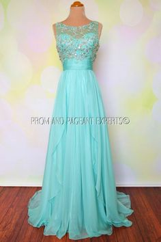 SEAFOAM PROM DRESS FORMAL LONG EVENING PAGEANT WEDDING BALL GOWN XL 12/14