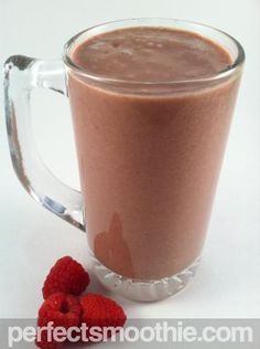 Peanut Butter Cup Raspberry Smoothie - What do you get when you combine Ben and Jerry's Peanut Butter Cup ice cream with raspberries, bananas and almond milk? An awesome malt-like smoothie dessert!! We added malt flavoring to really enhance the sweet richness of all of these combined flavors. A great way to incorporate fruit into your family's dessert, this smoothie will satisfy your sweet craving while providing two and a half fruit servings.