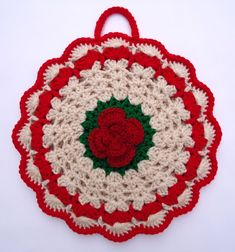 Stitch of Love: Crochet Potholder for Christmas