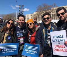 George Clooney, Lin-Manuel Miranda, Jennifer Hudson, Billy Eichner, and more take part in rallies across the country Parks And Rec Cast, Parks N Rec, Parks And Recreation, Natalie Morales, March For Our Lives, Singing Happy Birthday, School Shootings, Jennifer Hudson, Lin Manuel Miranda