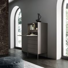 """Self Up"" Secretaire, Brown Edition by Rimadesio"