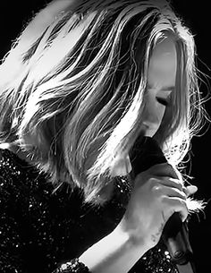 Adele - London Screen shot that I emblished - more like highlighted after I made Black & White. - hayward simmons