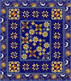 At InterQilten: Block of the month quilt. Fabric and design by In The Beginning Fabrics.