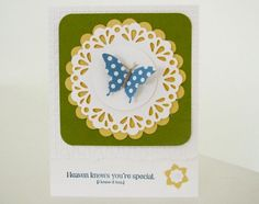 Stampin Up Elegant Butterfly Punch & Doilie Die