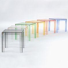 Jolly rainbow by Kartell #modern design coffee tables #coffeetabledesign living room design #modernlivingroom luxury design . See more at www.coffeeandsidetables.com