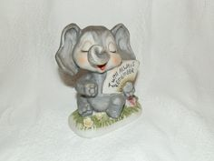 Petite Elephant Figurine Sassy and Cute by HistoryHouseAntiques