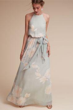 xo | Alana Dress in Mint/Blush from BHLDN