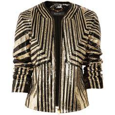 Gucci Striped python jacket